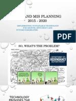Preliminary Roadmap 3-26-15