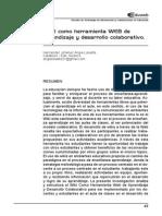 WIKI como herramienta WEB de aprendizaje y desarrollo colaborativo