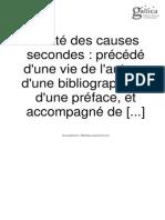 Jean Trithème Traité Des Causes Secondes