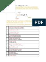 40 Ejemplos de Presente Simple en Inglés