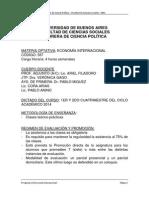 Programa 2015 de la materia Economia internaciona