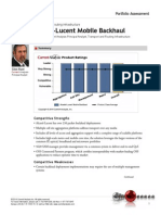 Alcatel Lucent Mobile Backhaul Portfolio Assessment
