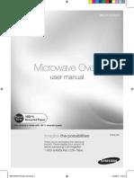 Samsung ME21F707 Microwave Manual
