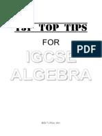 IGCSE Algebra