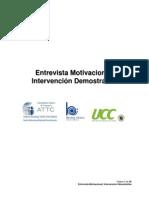 Entrevista Motivacional Intervencion Demostrativa Libreto Es