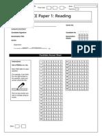 FCE Answer Sheets