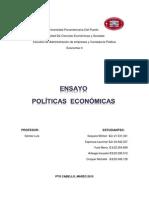 Ensayo politicas economicas