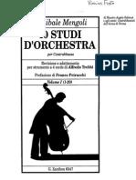 Mengoli - 40 Studi Da Orchestra Vol.I