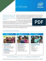 Intel Education Software Brochure Sept 2014