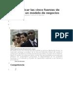 Como Aplicar Las Cinco Fuerzas de Porter en Un Modelo de Negocios