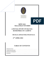 Malaysian Studies Project Report