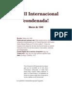 La III Internacional Condenada