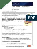 grade 7 unit 2 project
