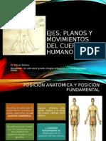 Planos Ejes y Moviemiento Del Cuerpo Humano