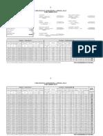 Calculo de Transportes Carreteros Año 2014