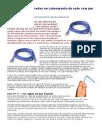 Procedimentos errados no cabeamento de rede com par trancado
