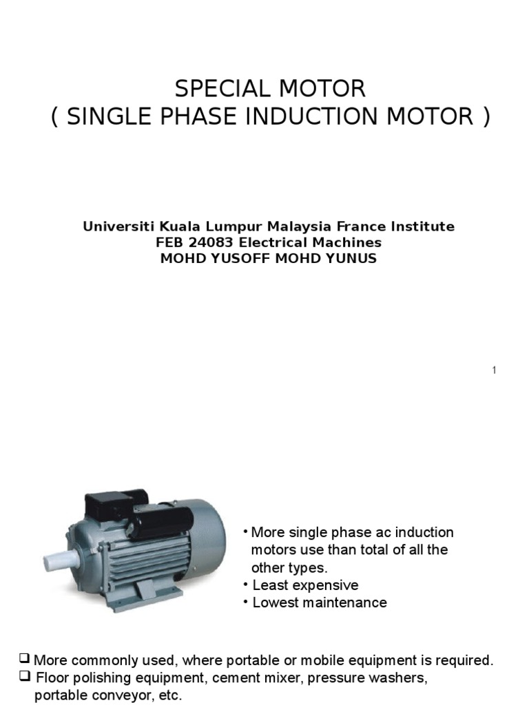 Single Phase Induction Motor 09 Capacitor Electric Permanent Split Run Ac