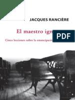 Rancière, J. - El Maestro Ignorante. Libros Del Zorzal, 2007