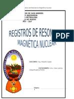 Registros de Resonancia Magnética