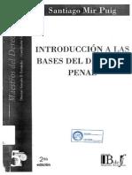 Introducción a Las Bases Del Derecho Penal. Mir Puig