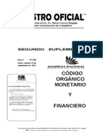 Codigo Organico Monetario Financiero Sept 14