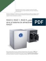 Configuracion de Discos Duros en RAID