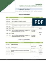 Agenda Del 11 Al 13 de Diciembre 2014