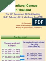 Agriculture Thailand Census