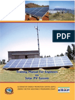 Training Manual for Engineers on Solar PV System