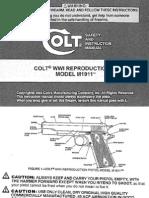 Colt Wwi Reproduction Pistol Model M1911
