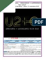 Concert u2 La Paris 11 Noiembrie 2015