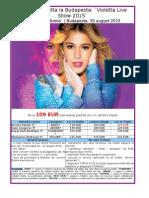 Concert Violetta La Budapesta 30 August 2015