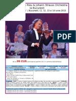 Concerte Andre Rieu La Bucuresti 11, 12, 13 Si 14 Iunie 2015(Pachet Standard)