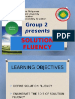 solution fluency( g-1 edbio)