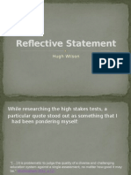 reflective statement