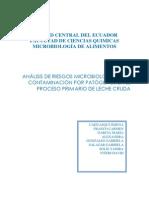 INFORME ANALISIS DE RIESGOS DE PATOGENOS EN PROCESO DE LECHE CRUDA
