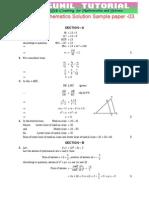 10th Mathematics Sa-1 Sol Sample Paper -3