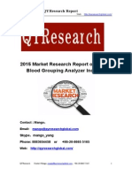 2015 Market Research Report on Global Blood Product Industry