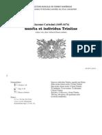 Sancta et individua Trinitas / Giacomo Carissimi