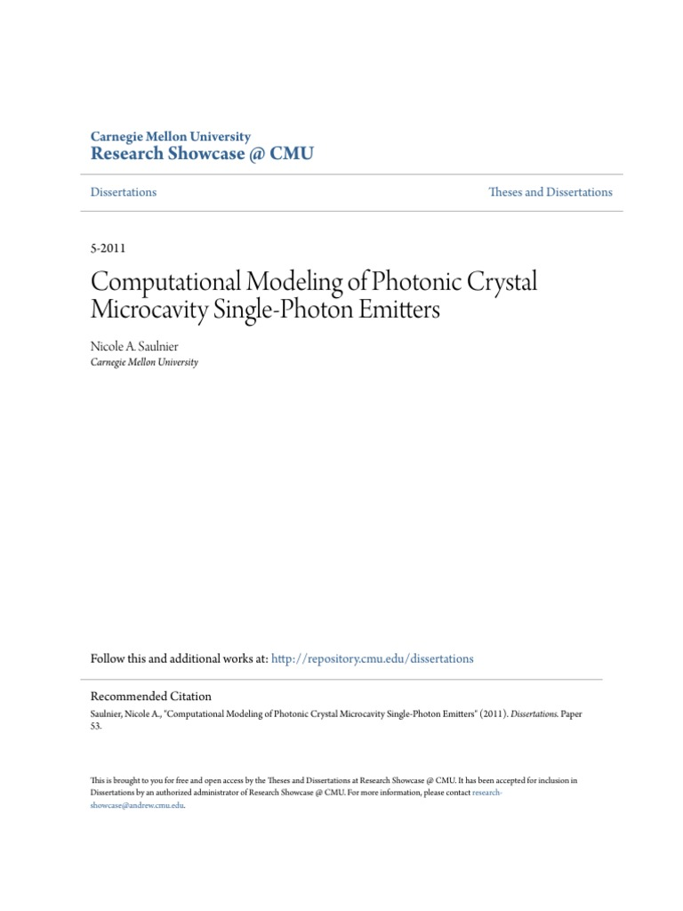 microcavity in photonic crystals Computational modeling of photonic crystal microcavity single-pho - free ebook download as pdf file (pdf), text file (txt) or read book online for free.