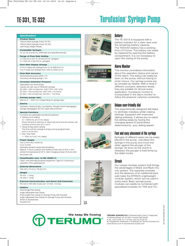 Doc Te332 Epdf Syringe Battery Electricity Low Indicator