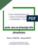 Aportes Para Una Antropología Critica y Latinoamericana (2)
