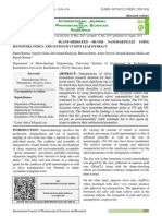 Green Synthesis of Plant-mediated Silver Nanoparticles