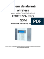 Sistem de Alarma Wireless FORTEZZA Pro GSM-M3D