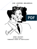 Corinda - Step 11 of 13 Steps to Mentalism - Question and Answer (Readings) (OCR)