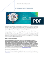 Enhancing SOA Testing With Service Virtualization