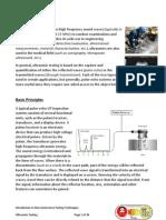 Ultrasonic Testing and test procedure