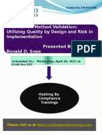 Method Validation Utilizing Quality by Design and Risk in Implementation