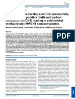 facile route to develop electrical conductivity with minimum possible multi-wall carbon nanotube (MWCNT) loading in poly(methyl methacrylate)/MWCNT nanocomposites3_ftp