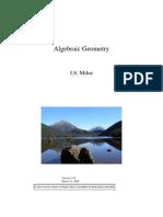 Algebraic Geometry Milne